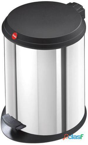 Hailo Cubo De Pedal T1.13 Litros (Chapa De Acero Color Gris)