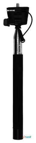 Kit Palo selfie monopod con cable negro