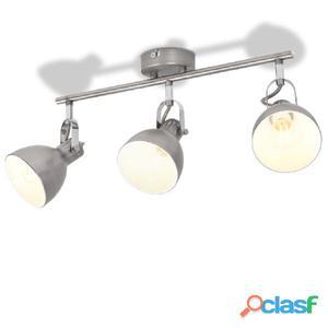 Lámpara de techo para 3 bombillas E14 gris