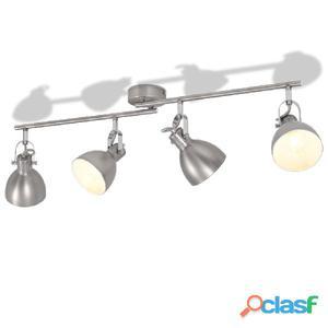 Lámpara de techo para 4 bombillas E14 gris