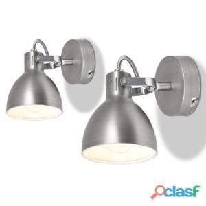 Lámparas de pared para 2 bombillas E14 gris unidades