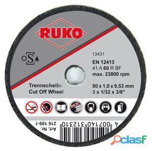 Ruko Discos De Corte, 80 X 2 Mm (25 Uds.)