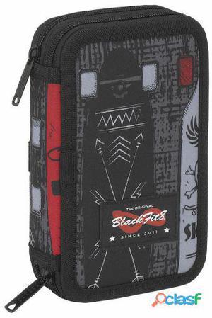 Safta Plumier Doble Pequeño 28 Piezas Blackfit8 Skate 340