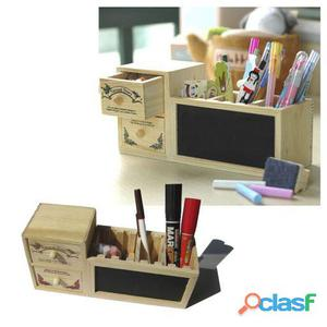 Superstudio Lapicero y organizador de escritorio de madera
