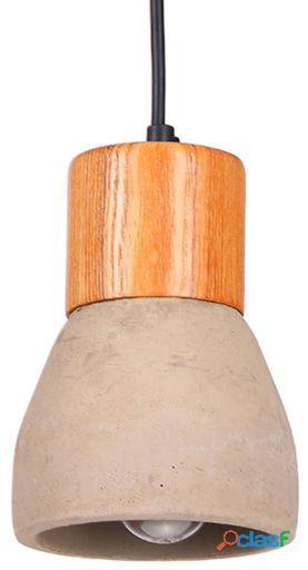 Superstudio Lámpara brando cemento y madera cemento