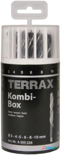 Terrax Juego De 18 Brocas Combi - Metal-Piedra- Madera