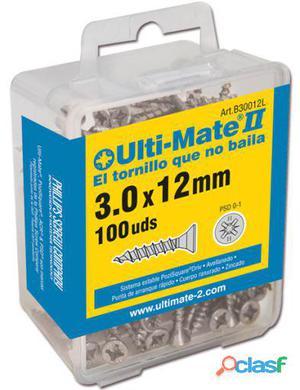 Ulti-Mate II Tornillos Para Madera Zincado De 3,0 X 12 Mm.