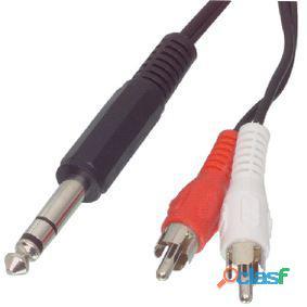 Valueline Cable Adaptador De Audio Y Video Jack Estéreo De