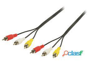 Valueline Cable Av Rca De 3 X Rca Macho A 3 X Rca Macho De 2