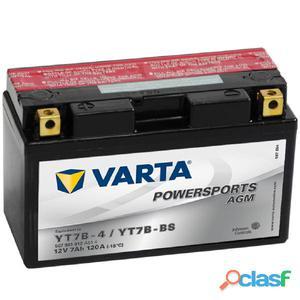 Varta Batería para motocicleta AGM, 12 V 7 Ah YT7B-4 /