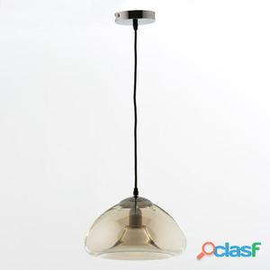 Wellindal Lámpara De Techo 30x18 Cristal Ambar 1.95 kg