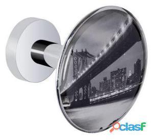 Wenko Percha colgador cristal 6x5 cm Puente Manhattan