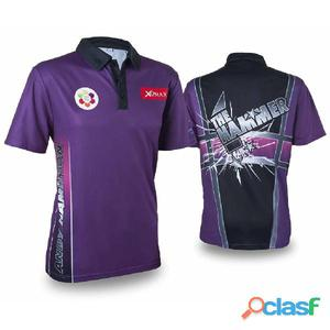 XQmax Darts Réplica de camiseta Andy Hamilton morada S