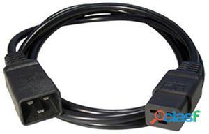 iggual Cable Alimentación C19 (H) a C20(M) 1. 5 Mts