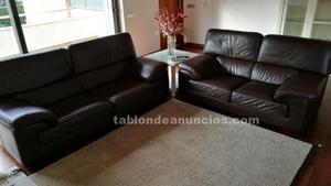 Vendo 2 sofas de piel nuevos