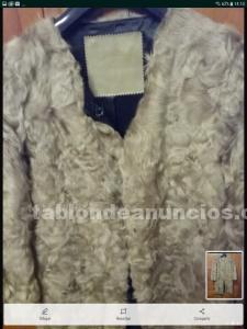 Abrigo bimba y lola de piel de cordero