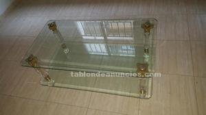 Mesa centro de salón de cristal
