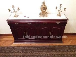 Mueble cómoda en madera con encimare de mármol de 1,40 m