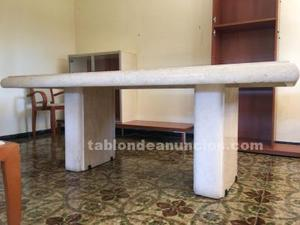 Impresionante mesa de mármol travertino de 2 metros por uno