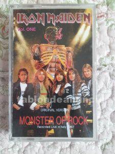 Iron maiden live in italy  cinta casete bootleg