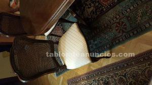 Comedor madera noble con sillas