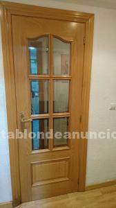 Puertas madera con cristal