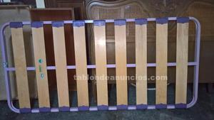 Somier de tablas para cama de 80 cm.