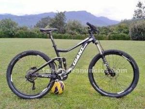 Bici de montaña doble giant trance
