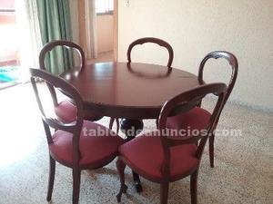 Mesa y sillas madera maciza, perfecto estado.