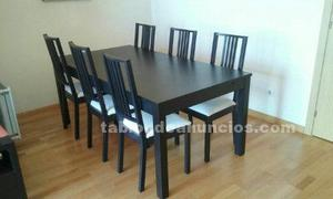 Vendo mesa y seis sillas de ikea