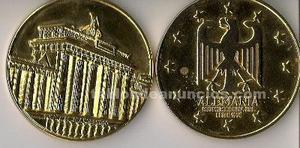 Medallones de la cee dorados y bañados en oro de 24 kl.