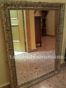 Vendo espejo vintage con marco dorado, super oferta.