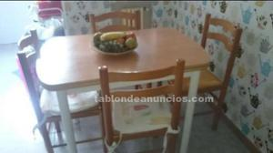 Conjunto de mesa y silla de cocina