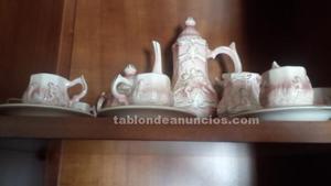 Juego de café antiguo porcelana jose elías alcobaca