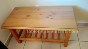 Mesa auxiliar en madera provenzal