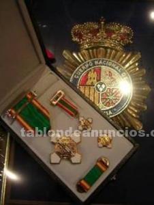 Medalla al merito chapada en oro de ley