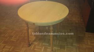 4 sillas y mesa