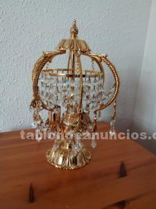 5 lámparas cristal de roca y bronce