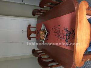 Vendo mesa de comedor con 6 sillas