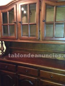Mueble comedor con vitrina