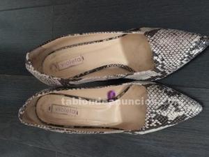 Zapatos piel serpiente
