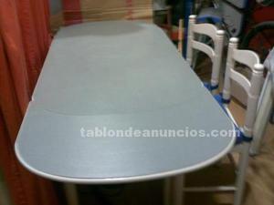 Mesa de cocina extensible con 4 sillas