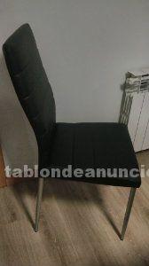 Vendo 6 sillas negras de polipiel ecológica sin estrenar