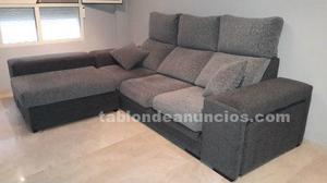 Vendo sofa chaise longue en dos tonos de gris
