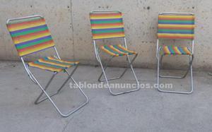 Sillas de camping (3 uds)