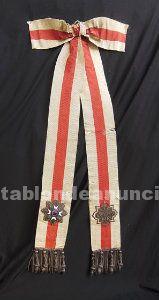 Banda condecorativa,placa de honor y mérito