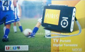 "Televisión portatil tdt 3"" airis"