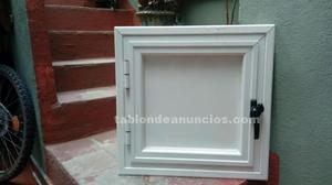 Ventana y puerta contador aluminio blanco