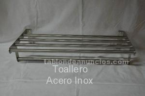 Balda madera cerezoregalo toallero acero posot class for Toallero extraible
