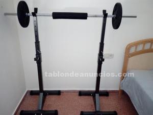 Soporte para barra de pesas